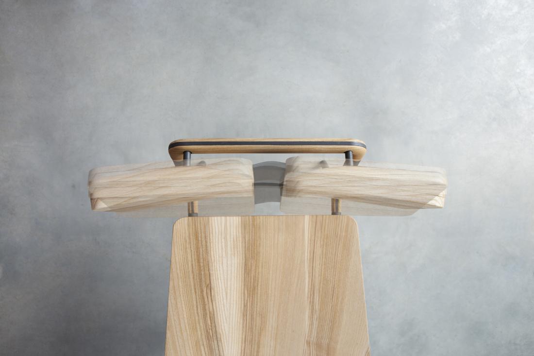 Židle Srna, pohyblivý mechanismus